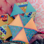 DIY coussins hexagonaux