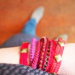 bracelet fait au crochet