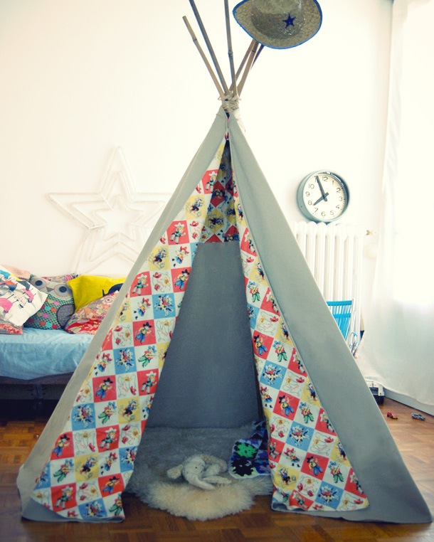 diy un tipi comme les indiens. Black Bedroom Furniture Sets. Home Design Ideas