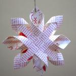 fabrication d'une étoile pour un  sapin de Noël
