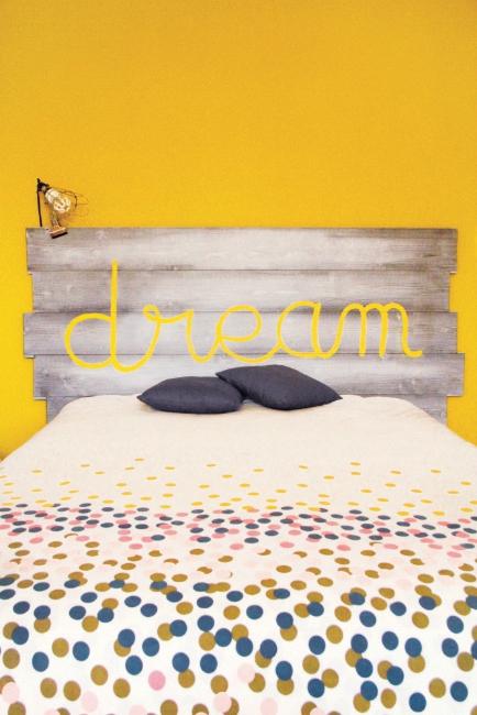 diy une t te de lit en bois. Black Bedroom Furniture Sets. Home Design Ideas