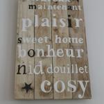 décoration en bois de palette