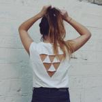 customiser un t-shirt au dos nu