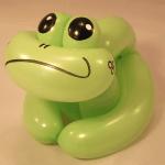 sculpture sur ballon : grenouille