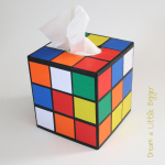 DIY boîte à mouchoirs rubik's cube
