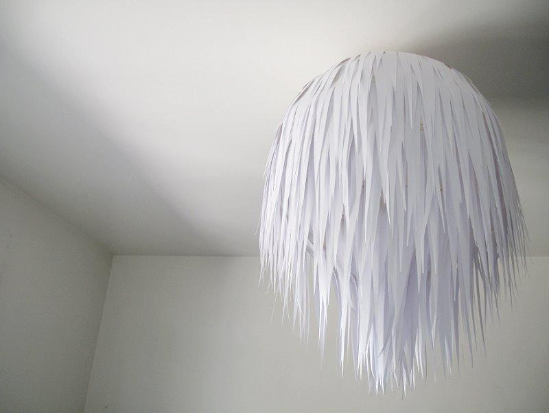 fabrication d'une lampe en papier
