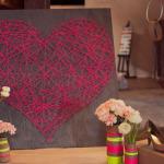 Superbe décoration coeur en ficelles à faire soi-même