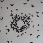 envolée de papillon : décoration murale
