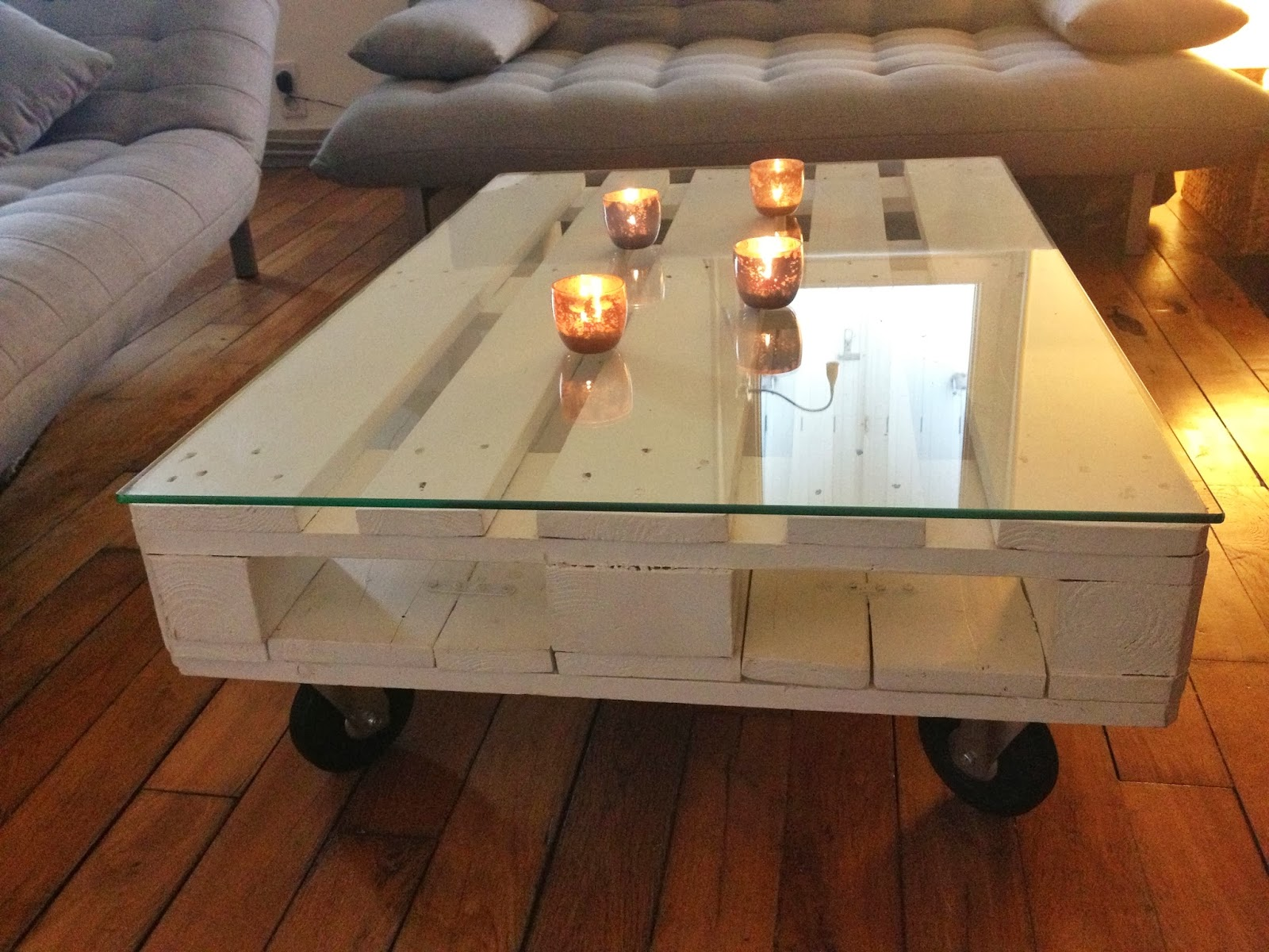 table basse blanche DIY