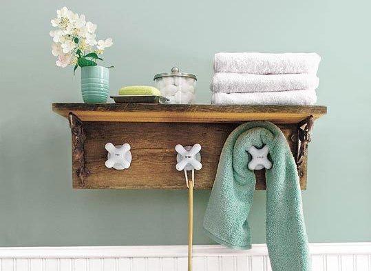 Diy fabriquer un porte serviette avec de vieux robinets - Porte serviette salle de bain ...