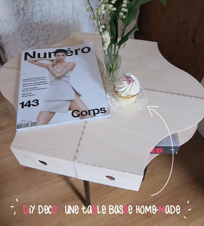 diy table basse avec des range revues. Black Bedroom Furniture Sets. Home Design Ideas