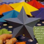 étoile de Noël en origami