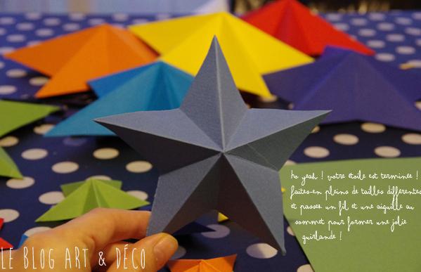 Diy des toiles en origami - Origami etoile de noel ...