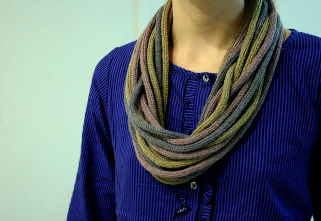 DIY écharpe au tricotin
