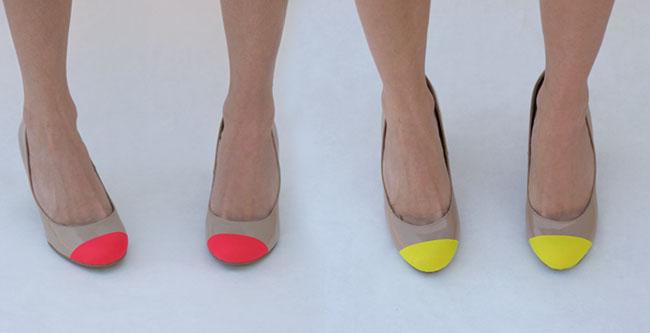 chaussure néon