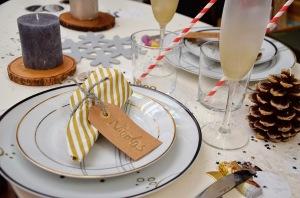 décoration de table dorée