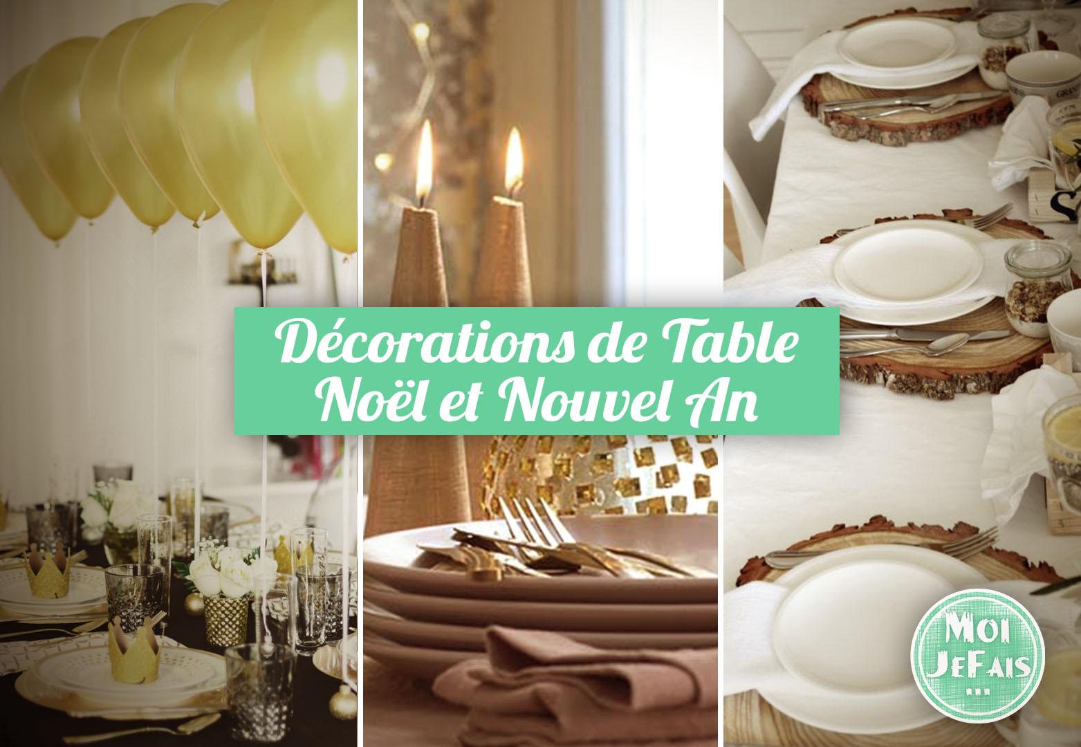 decoration table noel nouvel an