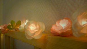 guirlande lumineuse fleur