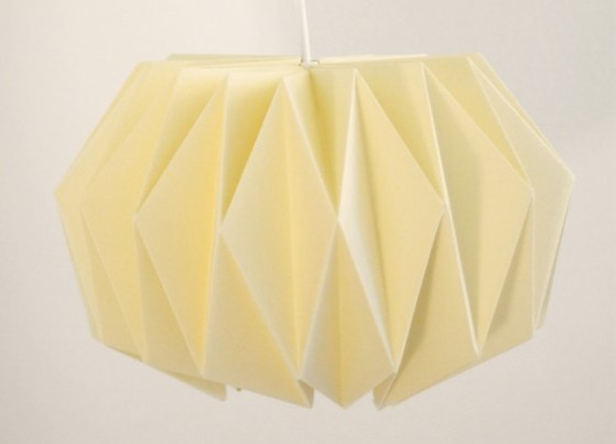 diy lampe en origami. Black Bedroom Furniture Sets. Home Design Ideas