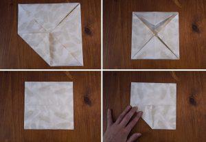 pliage serviette lotus 2