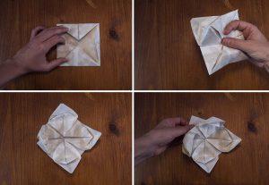 pliage serviette lotus 3
