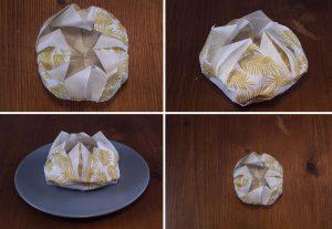 pliage serviette lotus 4