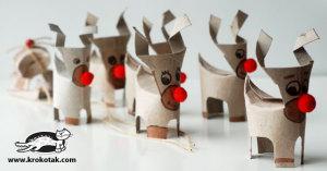 bricolage avec rouleaux de papier toilette : le renne