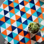 DIY table basse colorée