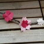 Fleur de cerisier en origami