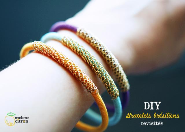 Des bracelets en coton.