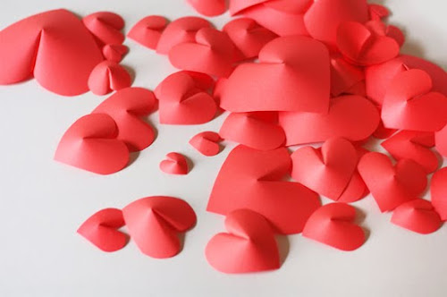 Des coeurs en 3D.