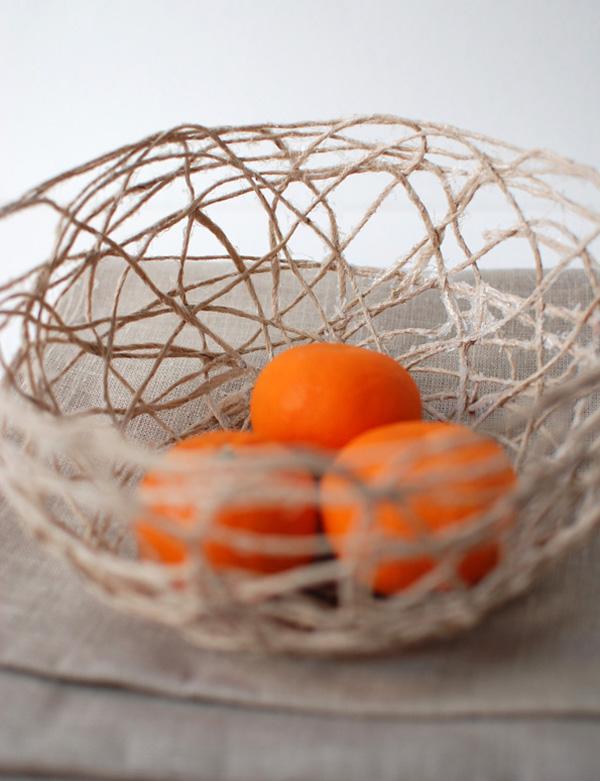 diy fabriquez une corbeille avec de la ficelle. Black Bedroom Furniture Sets. Home Design Ideas