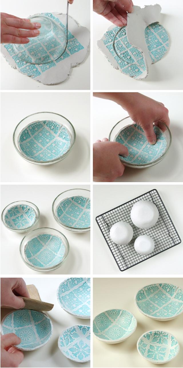 Diy un plat imprim fait en argile sans cuisson for Ceramica para modelar