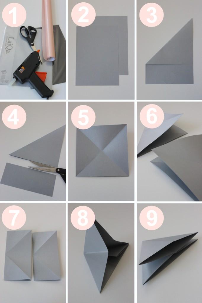 tuto origami diamant