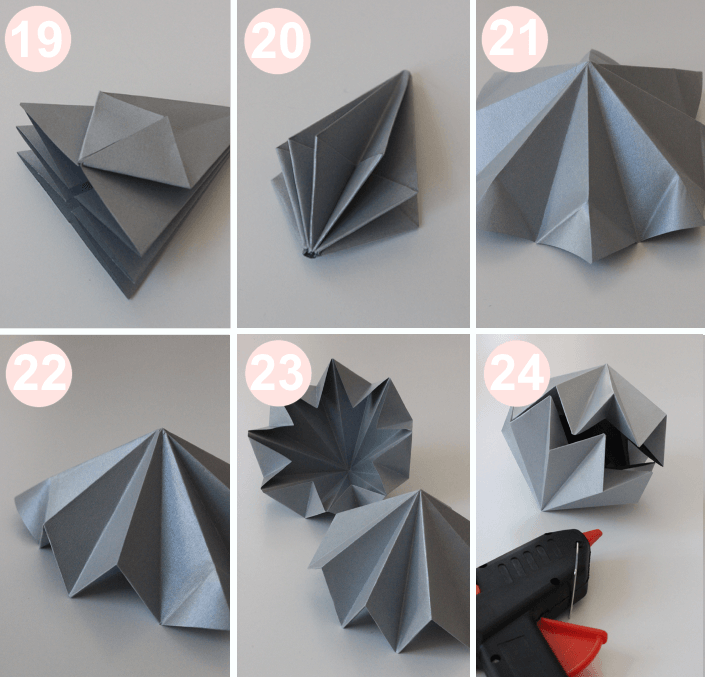 diy diamants en origami