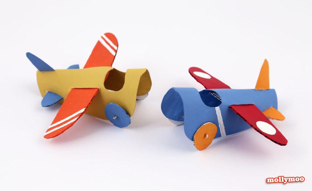 bricolage enfant rouleau papier toilette avion