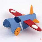 avion en rouleau de papier toilette