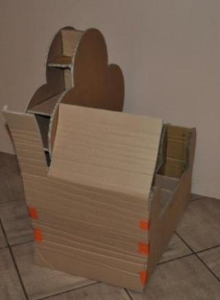 faire un fauteuil en carton