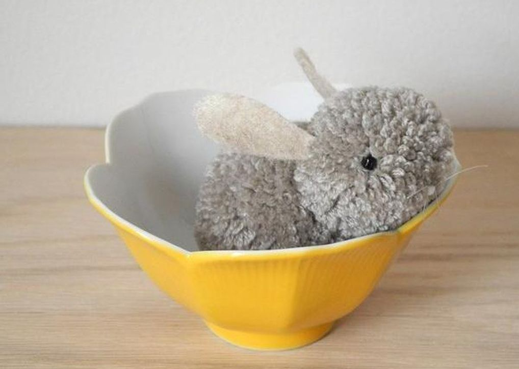 lapin pompon bricolage paques