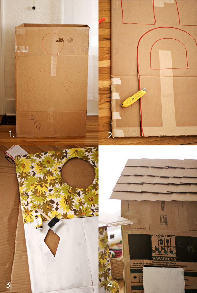faire maisonnette en carton