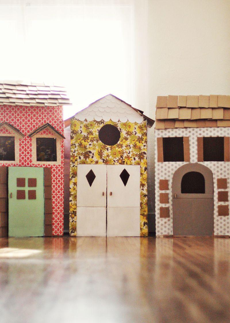 diy fabriquer une maisonnette en carton. Black Bedroom Furniture Sets. Home Design Ideas
