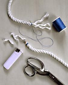 tapis tressé corde