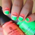 Nails Art - Pastèque