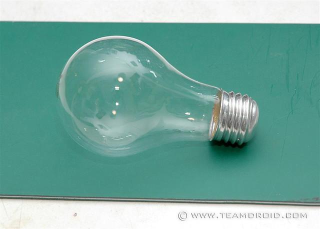 Évider une ampoule