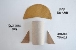 bricolage rouleau papier toilette fusée
