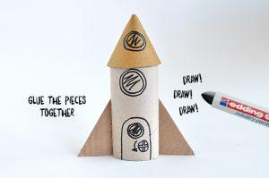 bricolage rouleaux papier toilette fusée