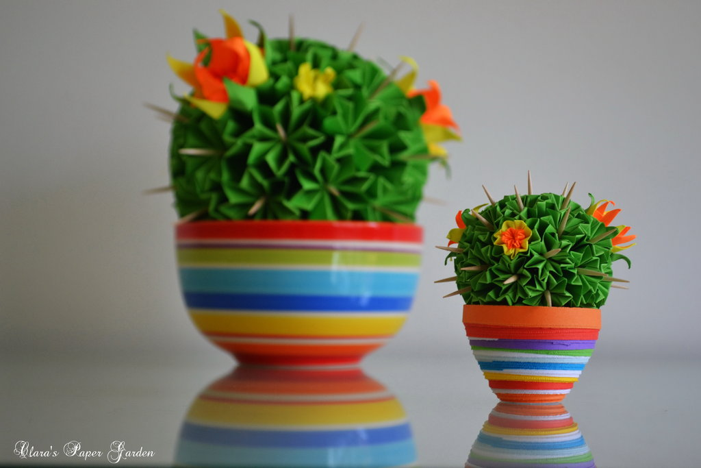 origami cactus diy