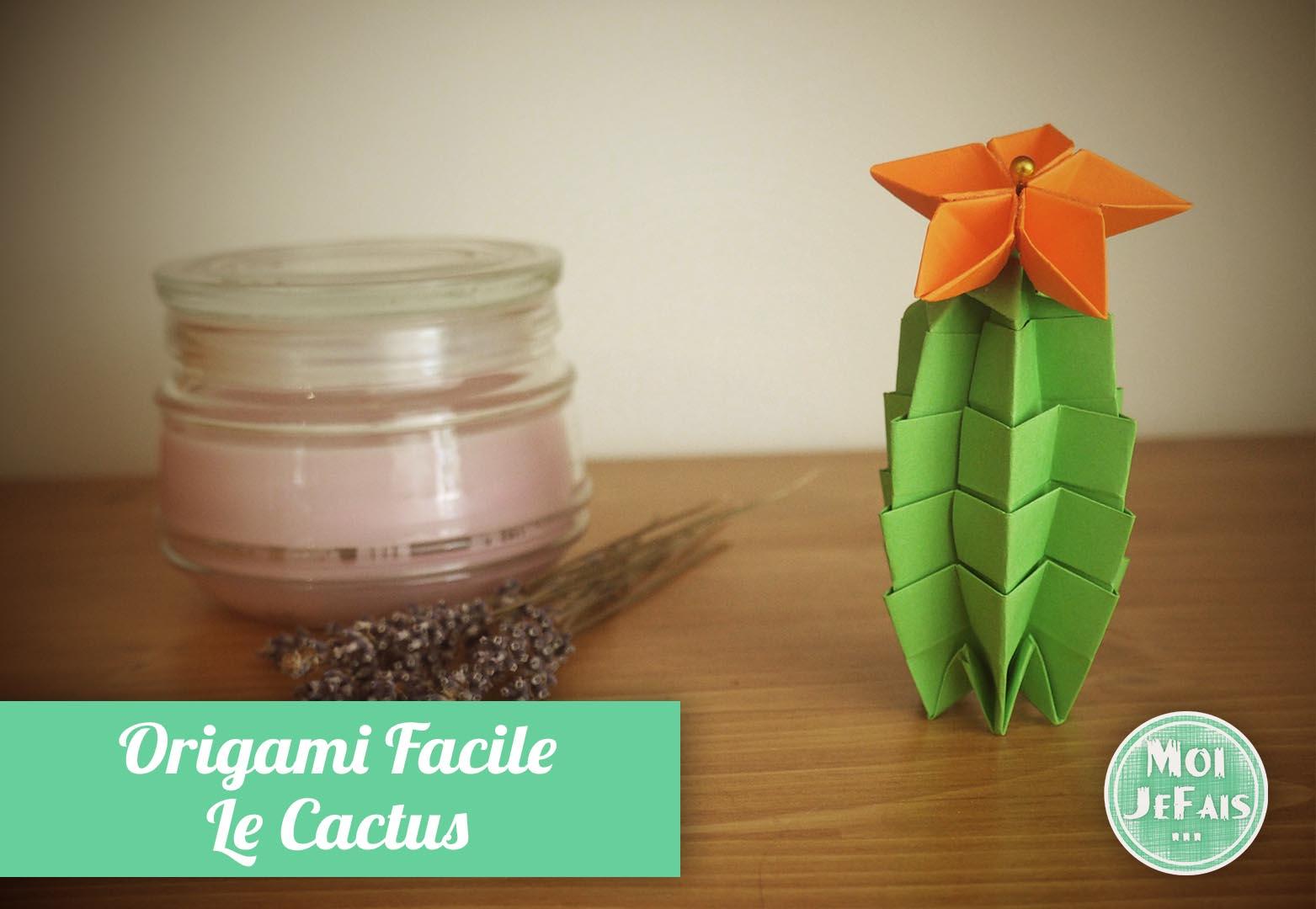 origami facile cactus