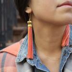 boucles d'oreille pompon
