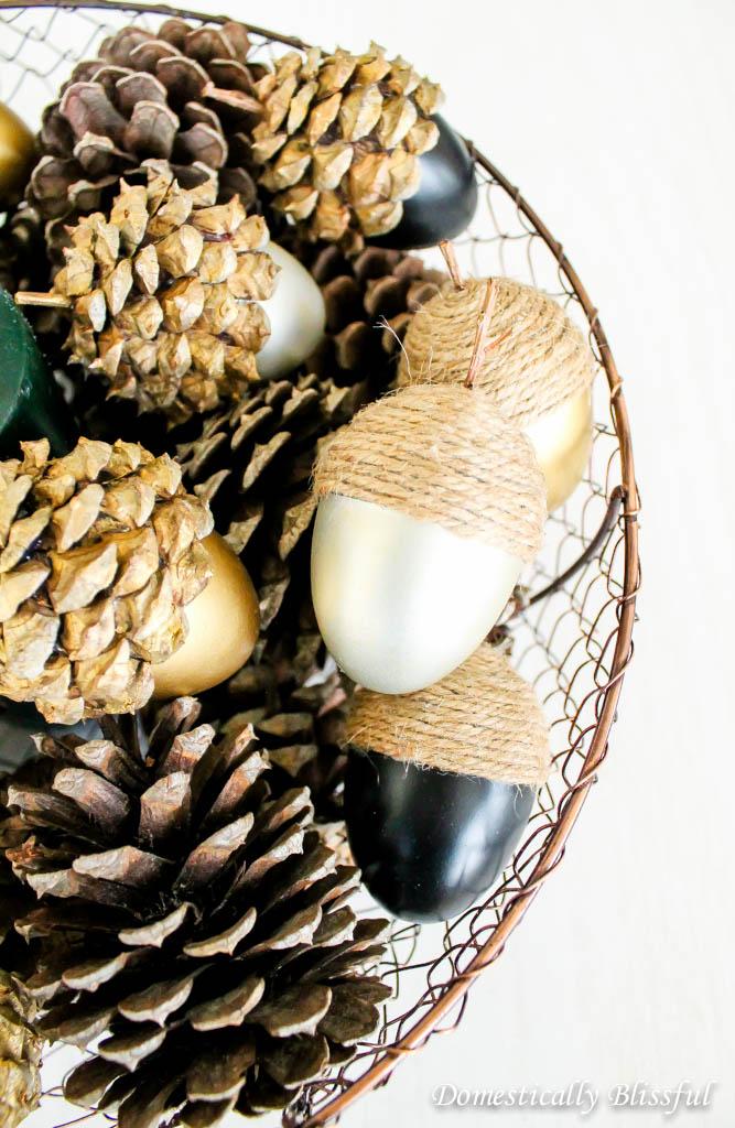 diy faire une d coration d 39 automne simple et jolie les glands. Black Bedroom Furniture Sets. Home Design Ideas